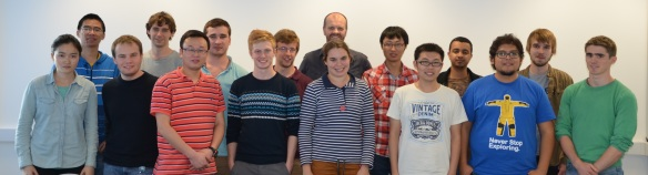 Group members, October 2013 (from left to right):  Yumeng, Bai, Piotr, Ben, Yaozu, Harry, James, Alex, Rosanna, Charl, Zhonghua, Carl, Ivo, Angel, Jake, James