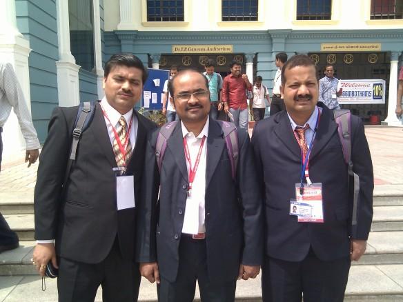 Saravanan at ICONN 2013 conference, INDIA